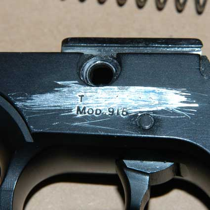 Alteration of a Firearm Serial Number